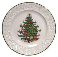 Original Christmas Tree Dickens Embossed Pattern