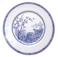 Woodland Quail Pattern in Blue