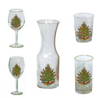 Original Christmas Tree Patter - Barware
